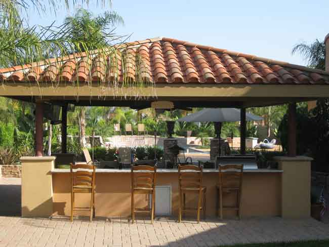 Free Standing Patio Structure With Outdoor Kitchen ...