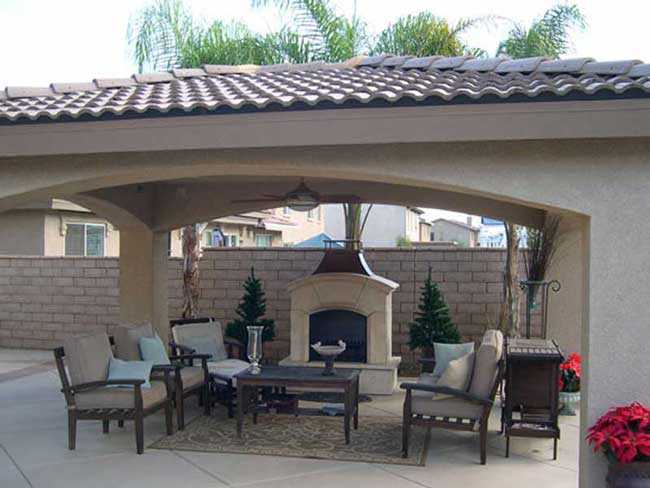 Stucco Covered Free Standing Patio Cover ...   Untitled Document