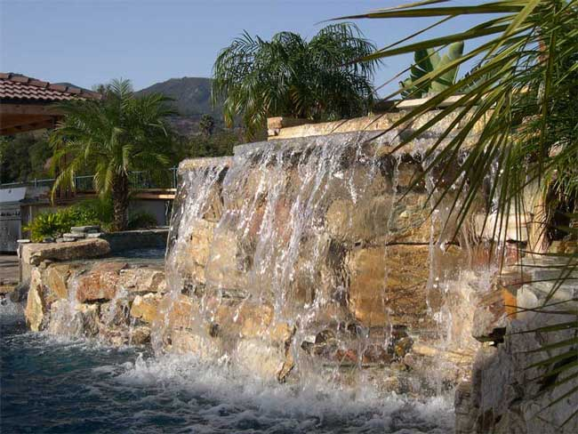 Swimming pool services for Swimming pool waterfalls construction